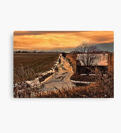The Irrigation Canal Canvas Print