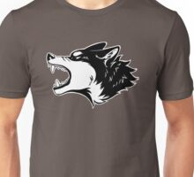 Angry Wolf Tee (White) Unisex T-Shirt