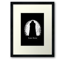 Lord Snow Framed Print