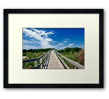 Sky Path Framed Print