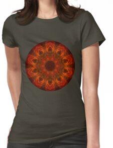 Fire Flower Mandala 2 Womens Fitted T-Shirt