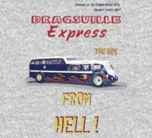 Dragster Bus heather grey by bonchustown