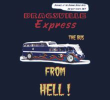 Dragster Bus dark blue by bonchustown