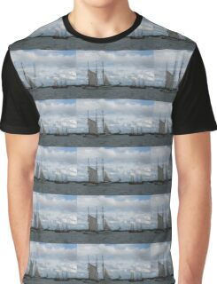Tall Ships Sailing in the Harbor Graphic T-Shirt