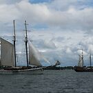 Tall Ships Sailing in the Harbor by Georgia Mizuleva
