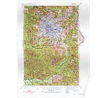 USGS Topo Map Washington State WA Mt Rainier 242666 1924 125000 Poster