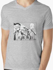 Saitama & Genos Mens V-Neck T-Shirt