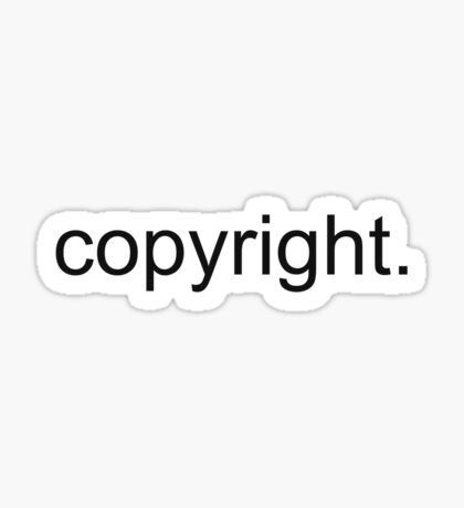 copyright. Sticker