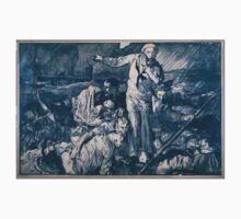 Sailors and others in a lifeboat as one sailor gestures to a submarine in the background 896 Baby Tee