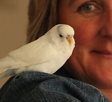 me and my budgie by Jeannine de Wet