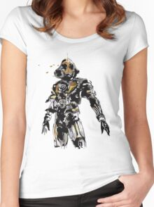 Kamen Rider Ghost Paint Women's Fitted Scoop T-Shirt