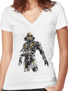 Kamen Rider Ghost Paint Women's Fitted V-Neck T-Shirt
