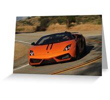 Lamborghini Gallardo LP570-4 Spyder Performante - Cornering Greeting Card