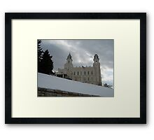 Manti, Utah Temple Framed Print