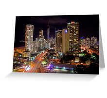 Surfers Paradise at Night Greeting Card