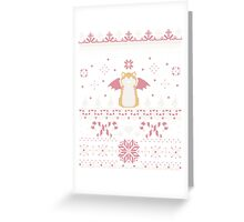 Ugly Holiday Sweater (Pink) Greeting Card
