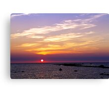 Sunset in Reigi Canvas Print
