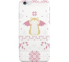 Ugly Holiday Sweater (Pink) iPhone Case/Skin