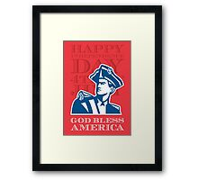 Independence Day Greeting Card-American Patriot Soldier Bust Framed Print