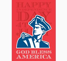 Independence Day Greeting Card-American Patriot Soldier Bust Unisex T-Shirt
