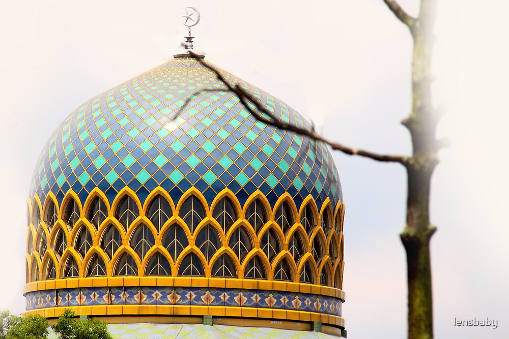 shapes and patterns on a mosque by lensbaby