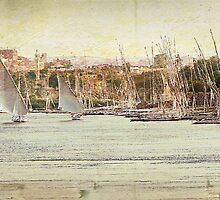 feluccas on the River Nile at Aswan by dmacwill