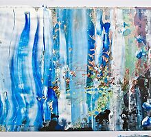Blue Earth Abstract by paintpaint