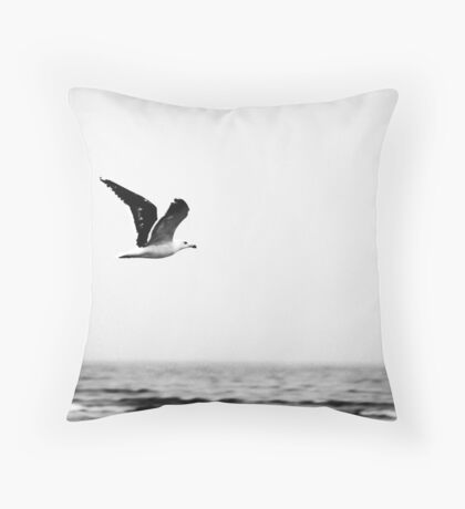 Soaring Nova Scotia Gull Throw Pillow