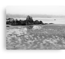 Foggy Shore Canvas Print