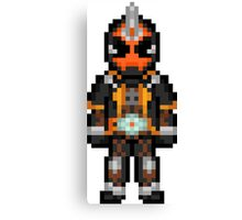 Kamen Rider Ghost Pixelated Canvas Print