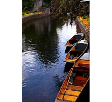 Boats on the River Stour Photographic Print