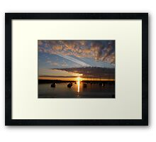 Harbour sunrise 2012 Framed Print
