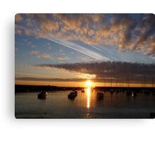 Harbour sunrise 2012 Canvas Print