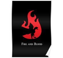 Fire and Blood Poster