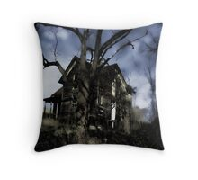 House On Haunted Hill Throw Pillow