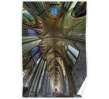 Reims Cathedral upshot Poster