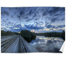 Dusk at the Abol Bridge Poster