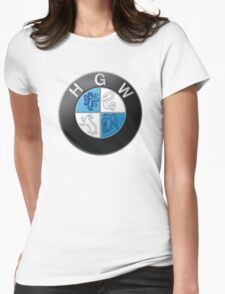 Harry Potter HGW HoGWarts (BMW logo) Womens Fitted T-Shirt