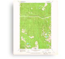 USGS Topo Map Washington State WA Scenic 243593 1965 24000 Canvas Print