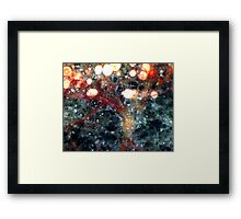 Chinese Lanterns In The Snow Framed Print