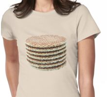 Caramel wafers in a pile Womens Fitted T-Shirt