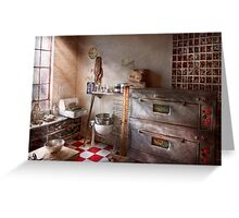 Chef - Baker - The bread oven Greeting Card