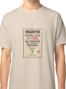 Umbridge Proclomation number 82 Classic T-Shirt