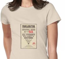 Umbridge Proclomation number 82 Womens Fitted T-Shirt