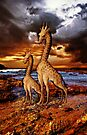 Antique Giraffes iPHONE Case by Pamela Phelps