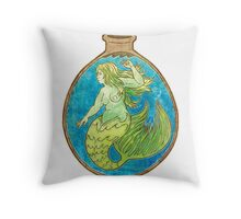 Mermaid Alchemy Throw Pillow