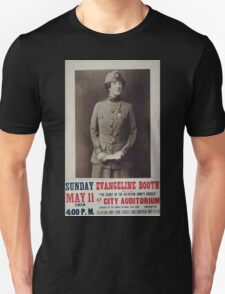 Evangeline Booth on The secret of the Salvation Armys success at City Auditorium T-Shirt