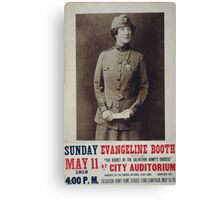 Evangeline Booth on The secret of the Salvation Armys success at City Auditorium Canvas Print