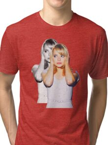 Emma Faded Double Print Tri-blend T-Shirt