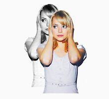 Emma Faded Double Print Mens V-Neck T-Shirt